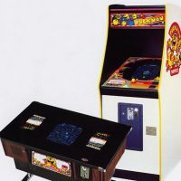 Puckman, Japanese version of Pac-Man, an arcade video game by Namco/Midway