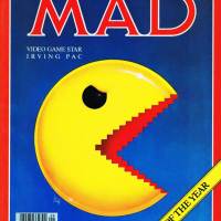 Scan of Mad Magazine featuring Pac-Man, an arcade video game by Namco/Midway 1980