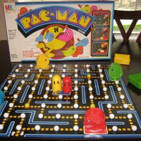 Board game by Milton-Bradley featuring Pac-Man, an arcade video game by Namco/Midway 1980