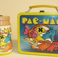 Lunch Box with imagery of Pac-Man, an arcade video game by Namco/Midway 1980