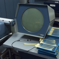 CRT display and typewriter for the PDP-1, a computer by Digital Equipment Corporation 1959