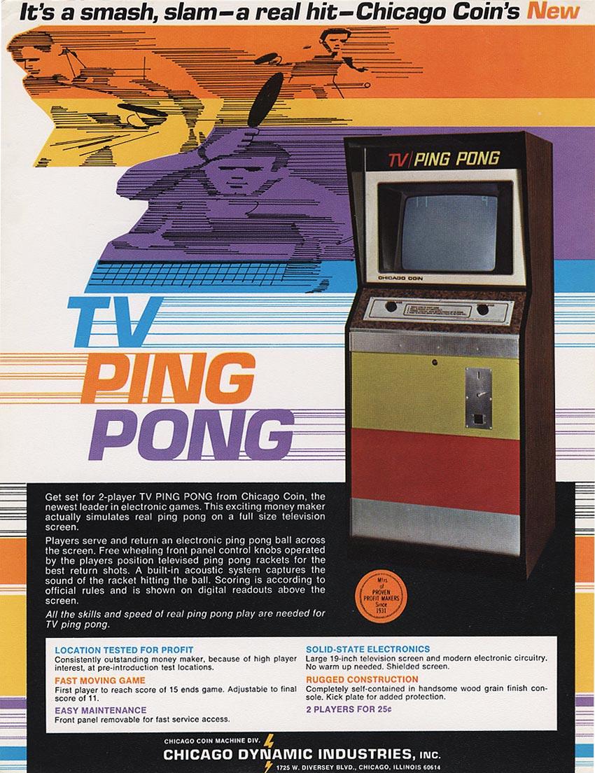 TV Ping Pong, an arcade video game