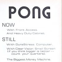 Early ad for PONG, the first arcade video game from Atari