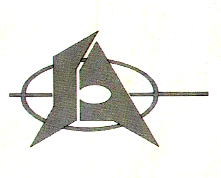 An early logo for Atari, a video game company 1972