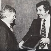 Pioneering award presented to Nolan Bushnell, founder of Atari, a video game company