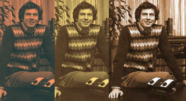 Collage image of Nolan Bushnell, co-founder of video game company Atari