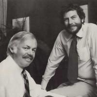 Joe Keenan and Nolan Bushnell of Atari, a video game company 1982
