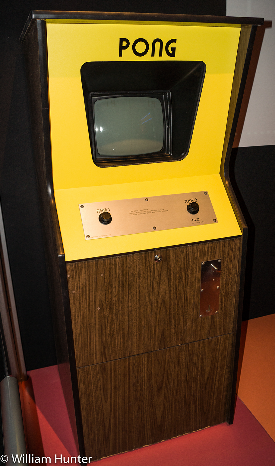 Image of PONG, a coin-op video game by Atari 1972