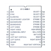 "Pinouts for the GI AY-3-8606-1 ""PONG-On-A-Chip"" IC"