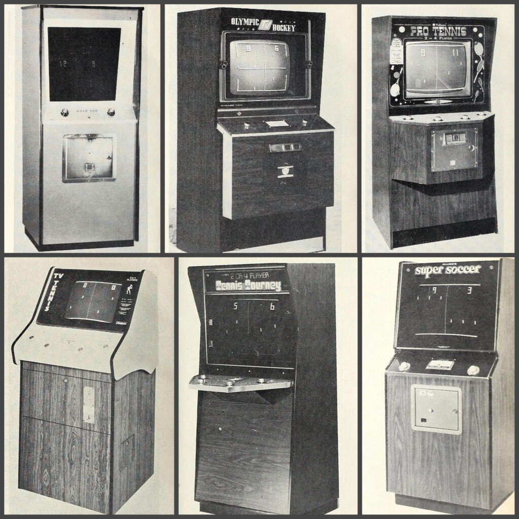 Video arcade games that are copies of Atari's PONG
