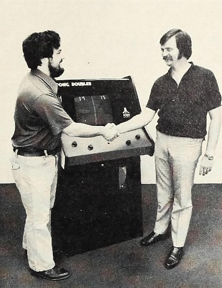 PONG Doubles, an arcade video game by Atari