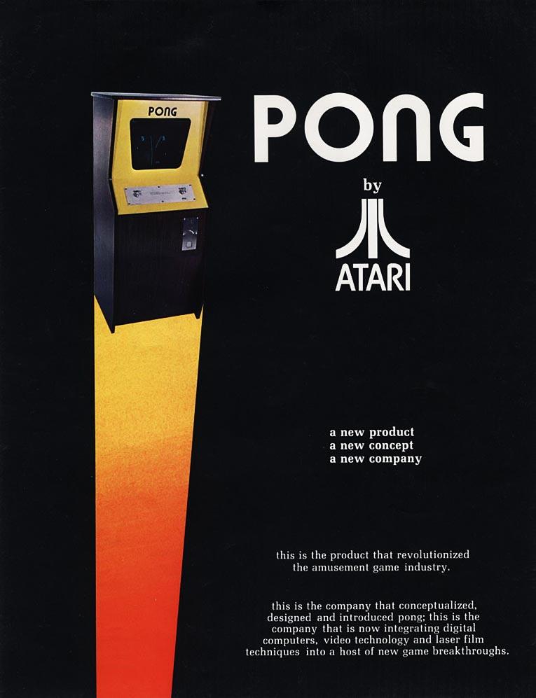 PONG, an arcade video game by Atari