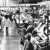 Manufacturing floor of Atari, video game maker, 1975