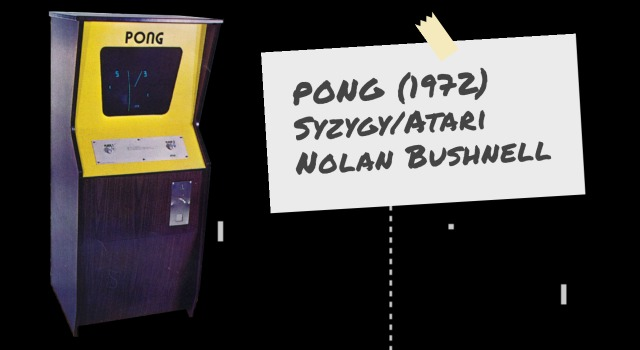 PONG cabinet with details. a video arcade game by Atari/Syzygy