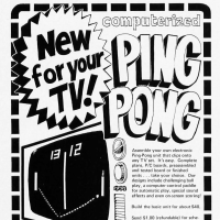 Ad for a Pong-type home kit, Visulex 1975