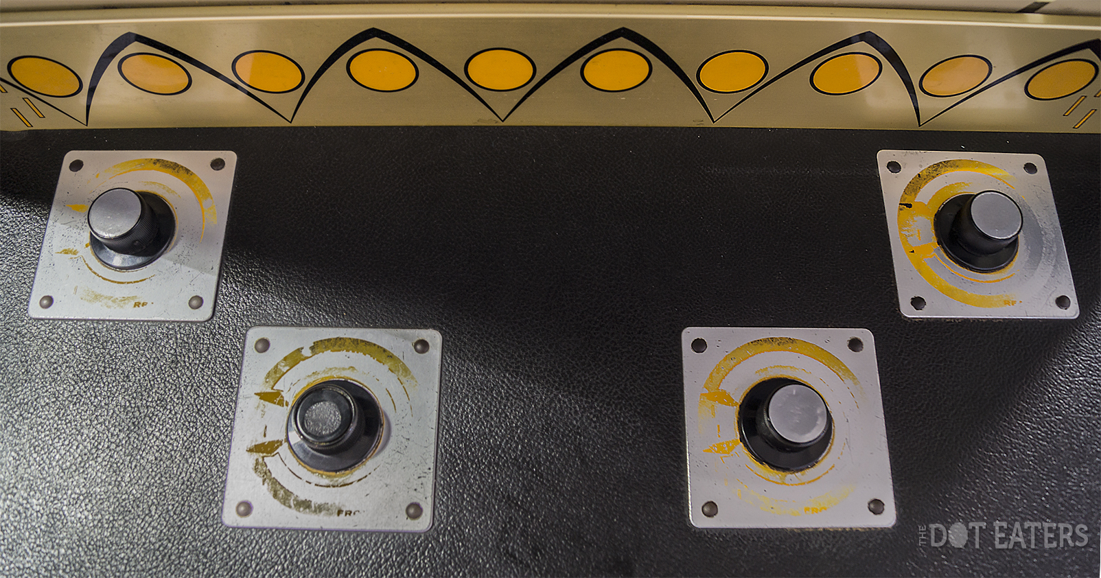 Control panel for Winner IV, an arcade video game PONG clone by Midway 1973