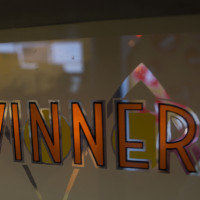 Marquee for Winner IV, an arcade video game PONG clone by Midway 1973