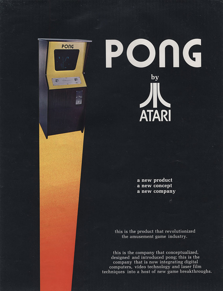A sales flyer for PONG, a coin-op video game by Atari, 1972