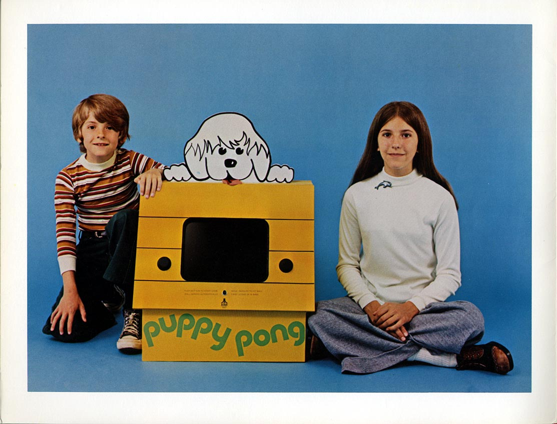 Flyer for Puppy PONG, a video game system marketed to doctor's offices, ect.
