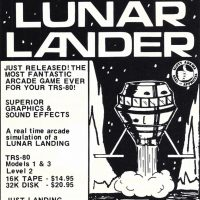 Lunar Lander, a game for the TRS-80 personal computer