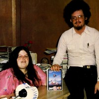 1983 image of Scott and Alexis Adams, authors of computer text adventure games