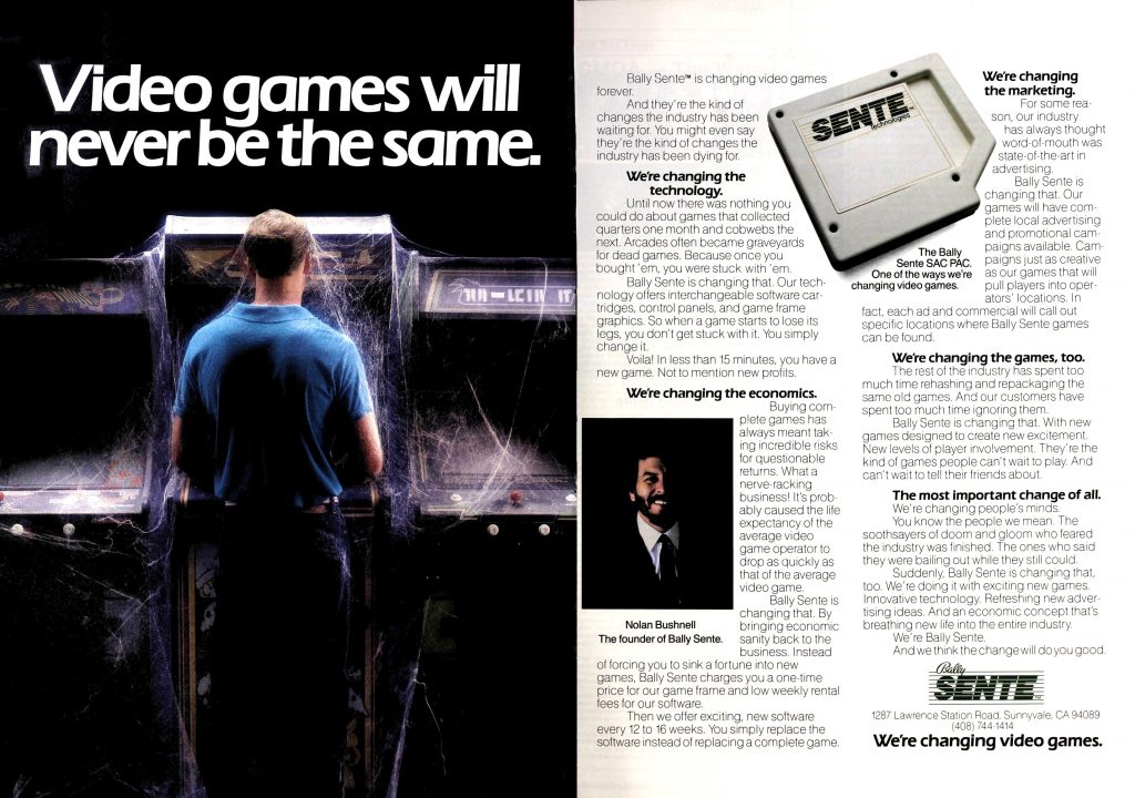 Sente, Nolan Bushnell's video game company