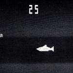 A screenshot from Shark Jaws, a video arcade game from Atari/Horror Games.