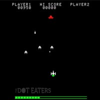 Snap of gameplay from Invaders Revenge, an arcade video game by Zenitone Microsec