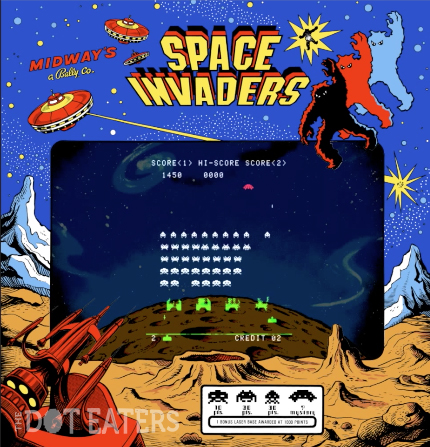 Gameplay snap of Space Invaders, an arcade video game by Taito/Midway 1978