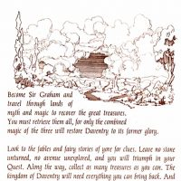 Manual page for King's Quest, a computer video game by Sierra