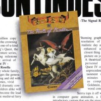 King's Quest IV, a graphic adventure video game by Sierra