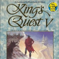 Box art for Kings Quest V: Absence Makes the Heart Go Yonder, 1990