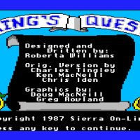 King's Quest, a computer adventure game by Roberta Williams and Sierra