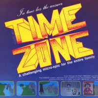 1982 ad for Time Zone, a computer graphic adventure game by On-Line Systems, aka Sierra