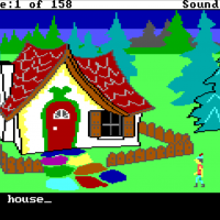 Snap of King's Quest, a graphic adventure computer game by Sierra On-Line 1984