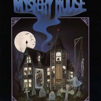 Box art for the SierraVenture re-release of Mystery House, a graphic adventure game by Sierra On-line 1982