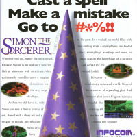 Ad for Simon the Sorcerer, a game by Infocom, 1993