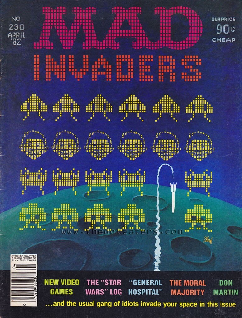 Mad magazine ad featuring Space Invaders, an arcade video game by Taito 1978