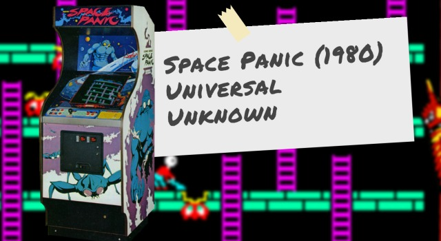 Arcade video game Space Panic, by Universal