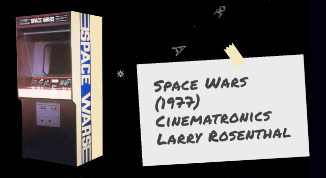 Video arcade game Space Wars, by Cinematronics