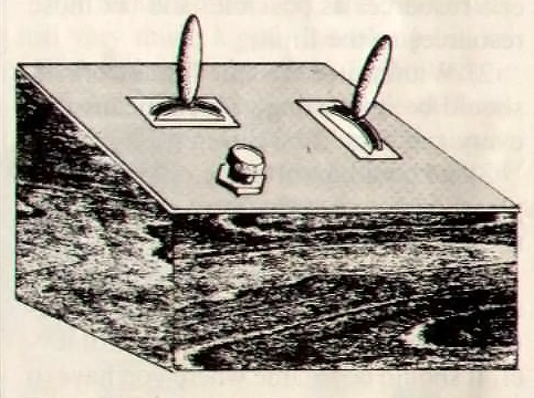 Drawing of the control boxes for Spacewar!, an early computer game for the PDP-1 1962