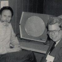 Steve Russell (R), creator of first computer game Spacewar