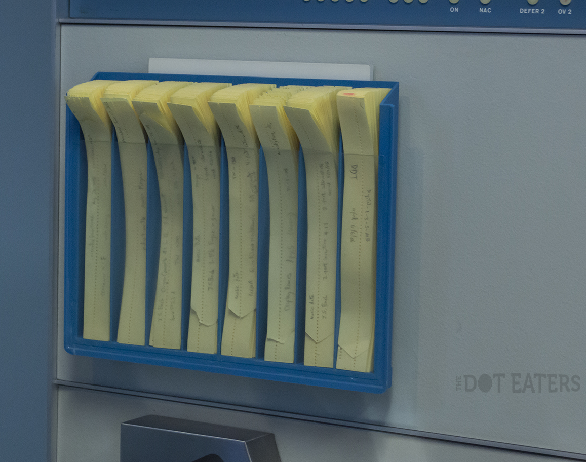 Paper tape holder for PDP-1, a mainframe computer by DEC 1959.