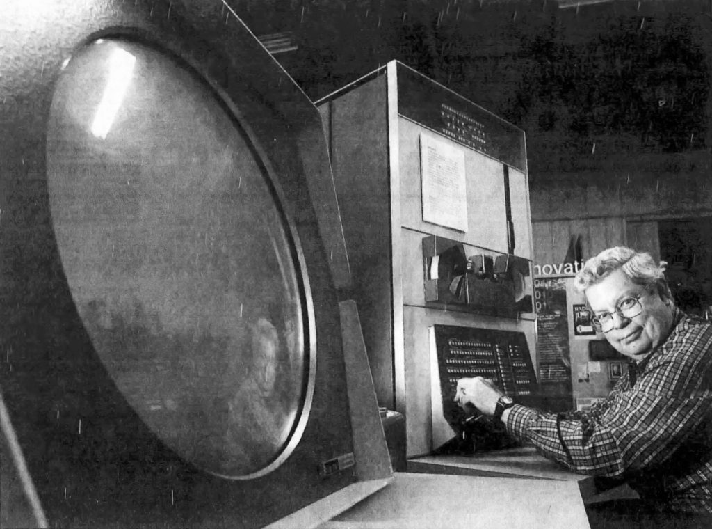 Spacewar creator Steve Russell and the PDP-1 computer