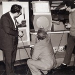 Three inventors of Spacewar play the game