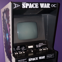 Cabinet for Space War, an arcade video game by Vectorbeam 1977
