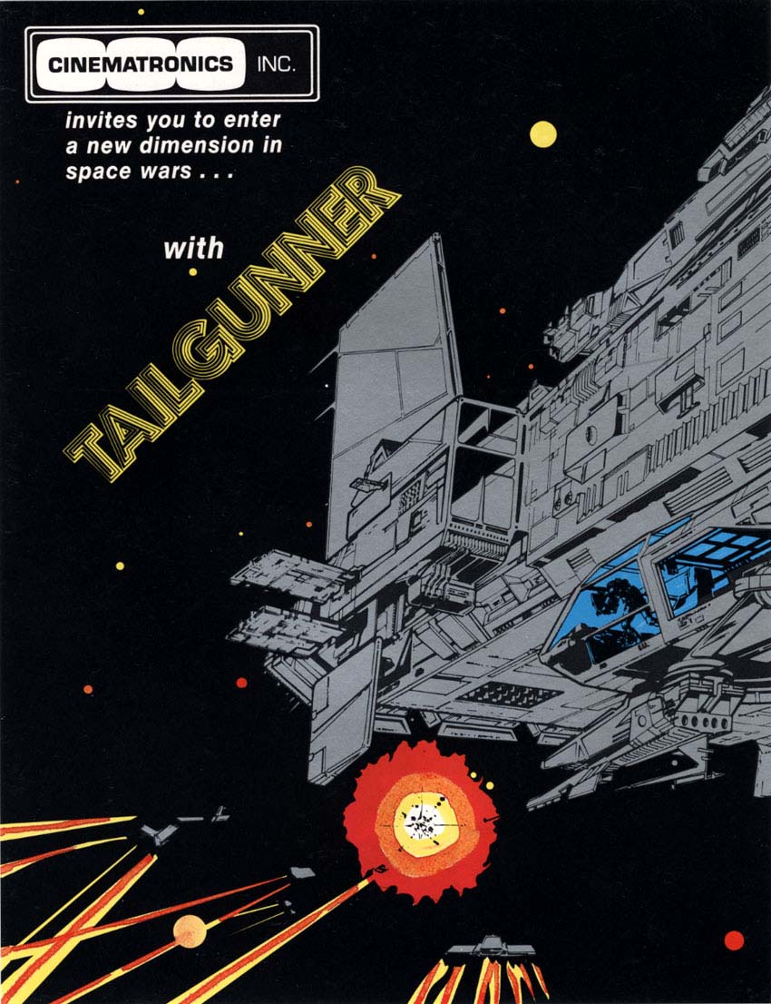 Flyer for Tailgunner, an arcade video game by Cinematronics 1979