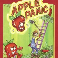 Box art for Apple Panic, a home computer game by Broderbund 1983