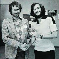 Film director Steven Spielberg with Atari E.T. video game designer Howard Scott Warshaw
