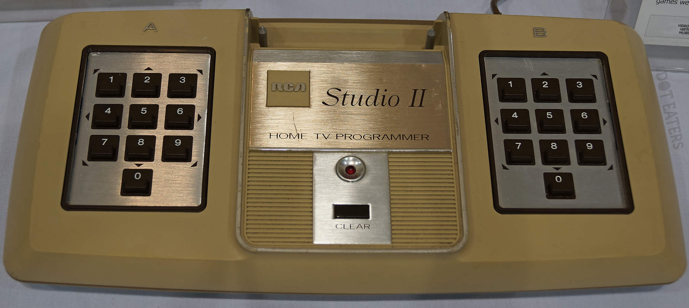 Image of the Studio II, a home video game system by RCA 1976